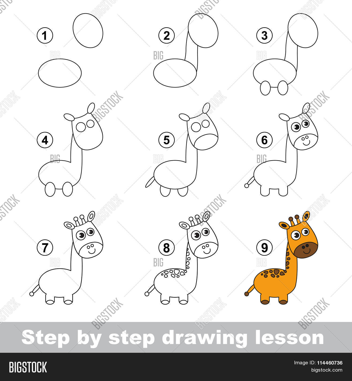Drawing Tutorial How Vector Photo Free Trial Bigstock