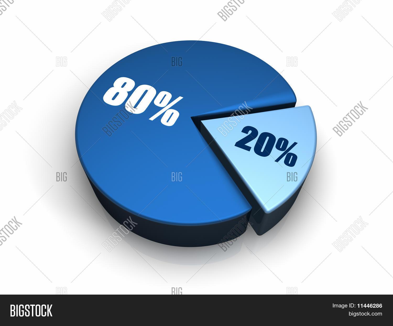 Blue pie chart 20 80 percent image photo bigstock blue pie chart 20 80 percent geenschuldenfo Gallery