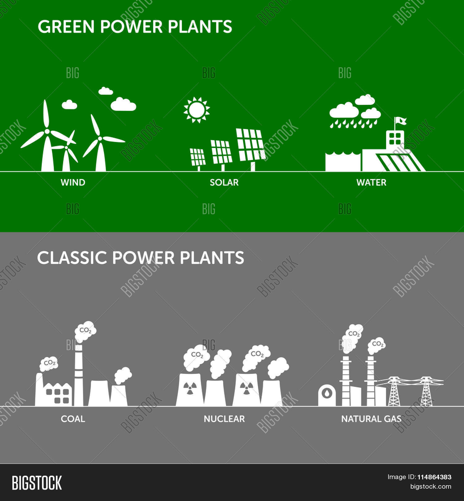 Different Types Power Vector Photo Free Trial Bigstock