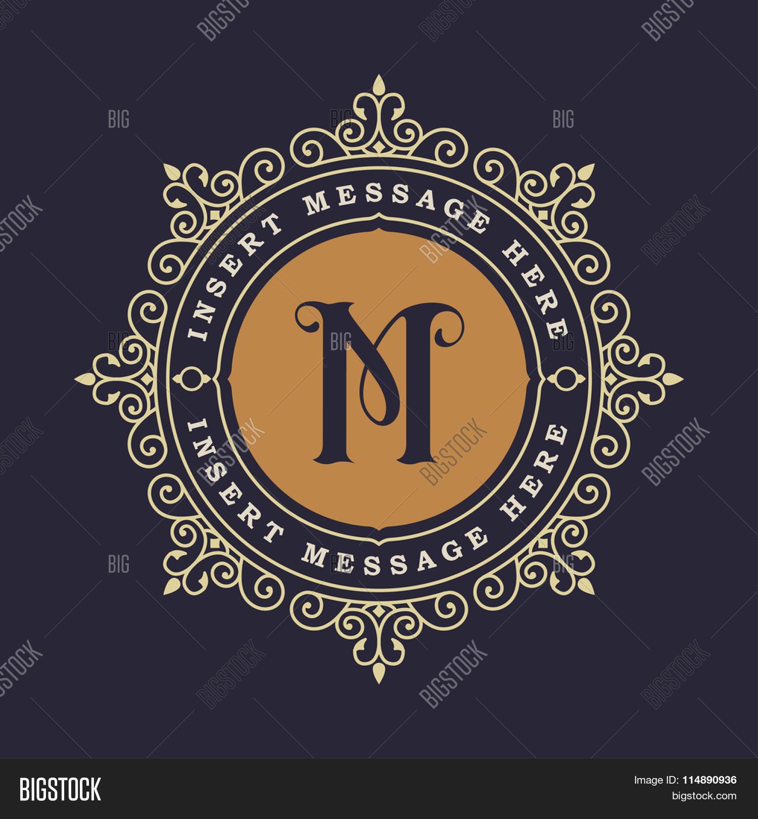 Monogram Emblem Vector & Photo (Free Trial) | Bigstock