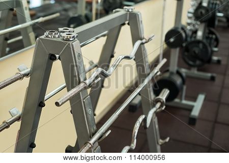 Training apparatus in gym.