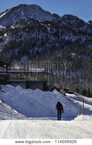 Ski Resort In A Pyrenees Mountain
