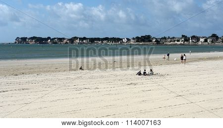 On The Beach In Bretagne. France