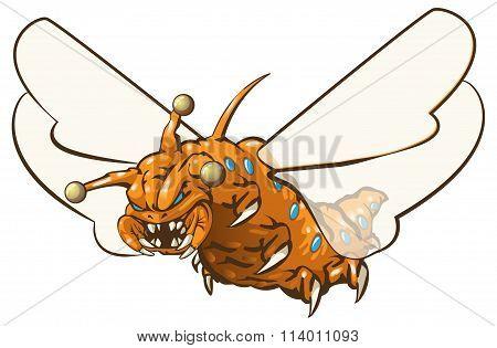 Orange Bug Maggot Jester Alien Thing