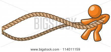 Orange Man Battle Ropes