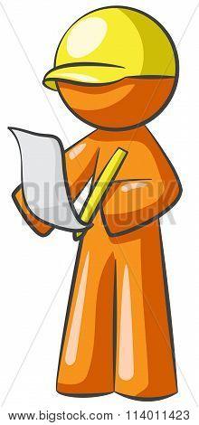 Orange Person Draftsman