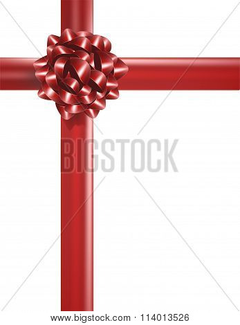Red Bow Ribbon Present Background