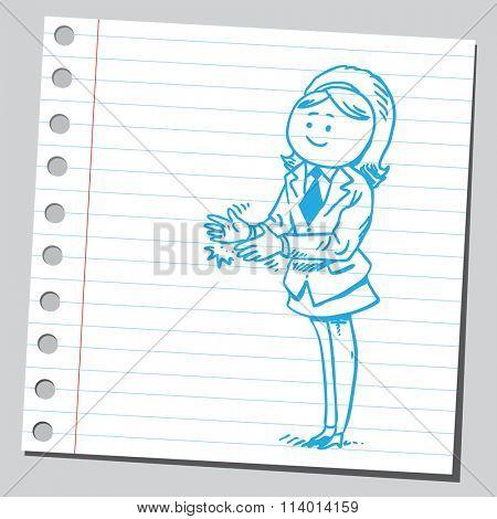 Businesswoman applauding