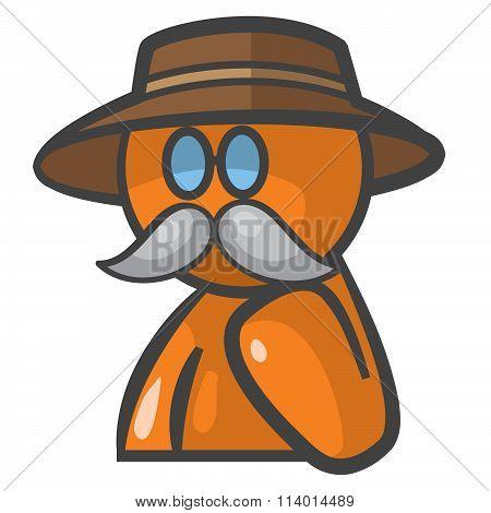Orange Person Dr Livingstone Avatar