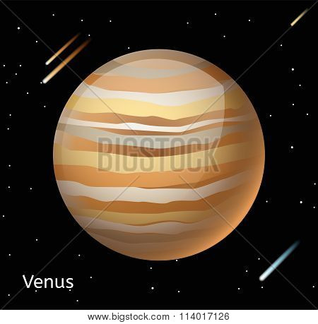 Venus planet 3d vector illustration