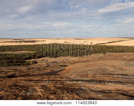 Bush and farm land in the Wheatbelt, Western Australia