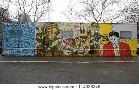 Mural art at Houston Avenue in Lower Manhattan.