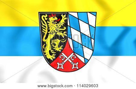 Flag Of Upper Palatinate Region, Germany.