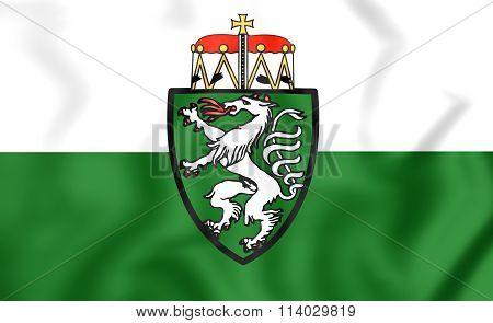 Flag Of Styria Bundesland, Austria.