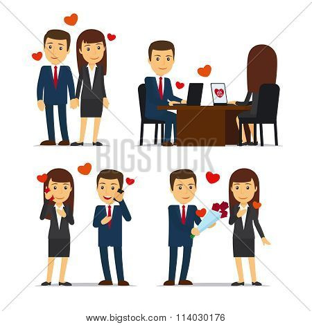 Office romance or love affair at work