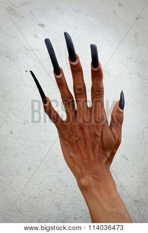 Long fingernails of Balinese dancer, Bali