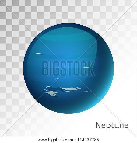 Neptune planet 3d vector illustration. Globe Neptune texture map. Globe vector Neptune view from space. Neptune illustration. Vector Neptune planet. Neptune planet silhouette, world map, 3d Neptune