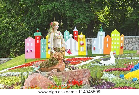 Flower Exhibition At Spivoche Pole  In Kyiv, Ukraine