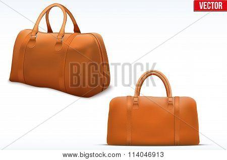 Classic Leather Bag Set