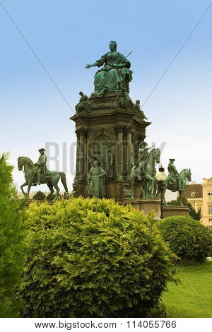Maria-therisien Platz And Monument, Vienna, Austria