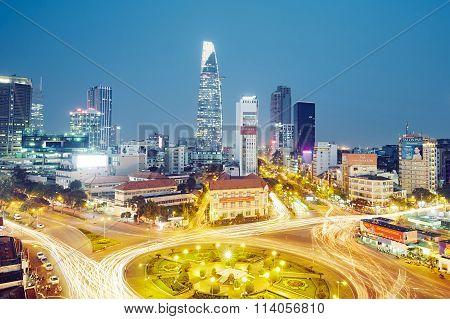 Evening Traffic In Ho Chi Minh City