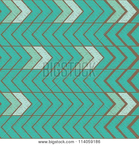 Seamless color hand-drawn triangles pattern. Tribal vector pattern.
