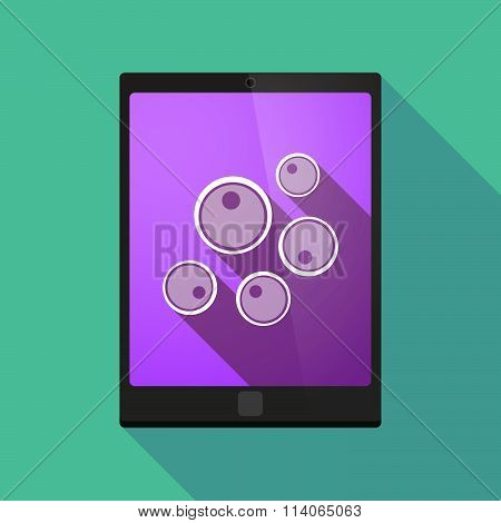 Long Shadow Tablet Pc Icon With Oocytes
