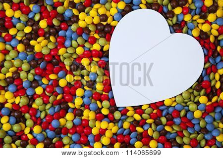 Heart shape inside smarties