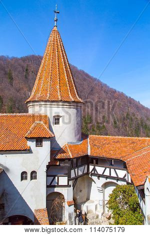 inside part of Bran Castle, Romania, known for Dracula story