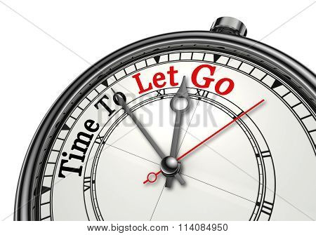 Time To Let Go Motivation Concept Clock