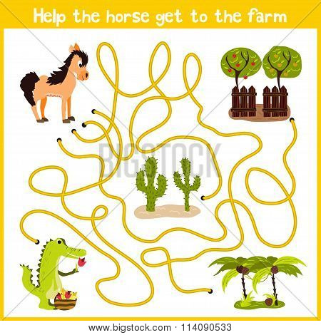 Cartoon Of Education Will Continue The Logical Way Home Of Colourful Animals. Spend A Nice Home On H