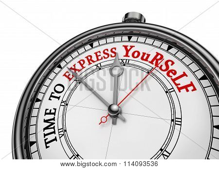 Time To Express Yourself Red Motivation On Clock