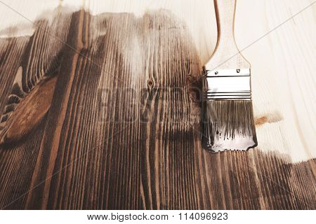 Smear of paint brush.