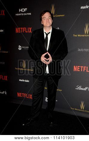 LOS ANGELES - JAN 10:  Quentin Tarantino at the Weinstein Company & Netflix 2016 Golden Globe After Party at the Beverly Hilton on January 10, 2016 in Beverly Hills, CA