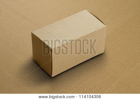 Recycle Card Board Box for Mockup on corrugated background