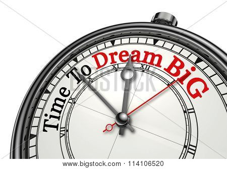 Time To Dream Big Red Word On Concept Clock
