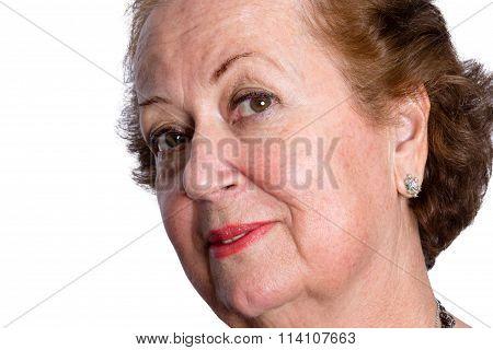 Curious Questioning Senior Female