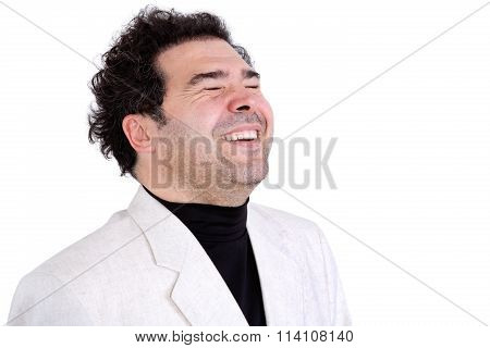 Happy Man In Spontaneous Laughter