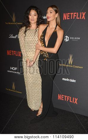 LOS ANGELES - JAN 10:  Chloe Flower, Nicole Scherzinger at the Weinstein Company & Netflix 2016 Golden Globe After Party at the Beverly Hilton on January 10, 2016 in Beverly Hills, CA