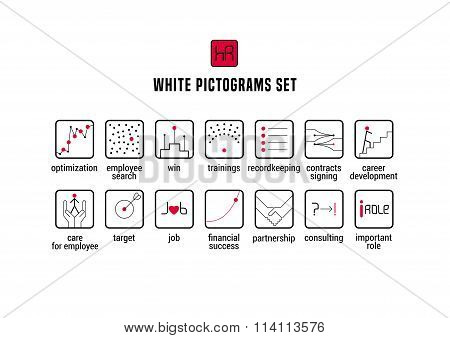 Human resource vector icons set