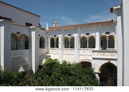 Courtyard of the Pousada Convento Evora