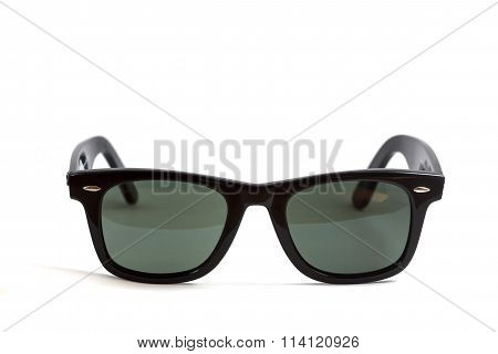 Wayfarer sunglass isolated on white