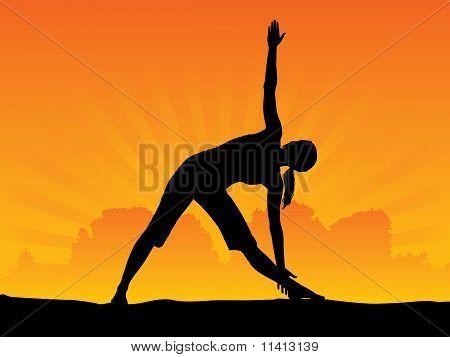 Йога - треугольник позе