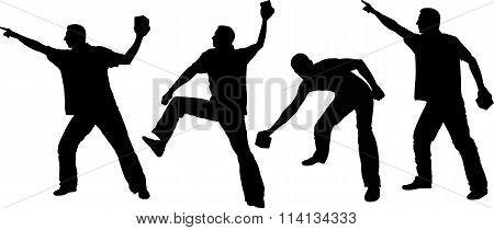 Hooligans silhouette