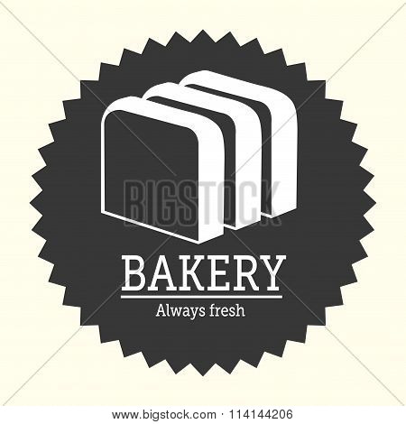 Bakery food and gastronomy graphic design, vector illustration poster