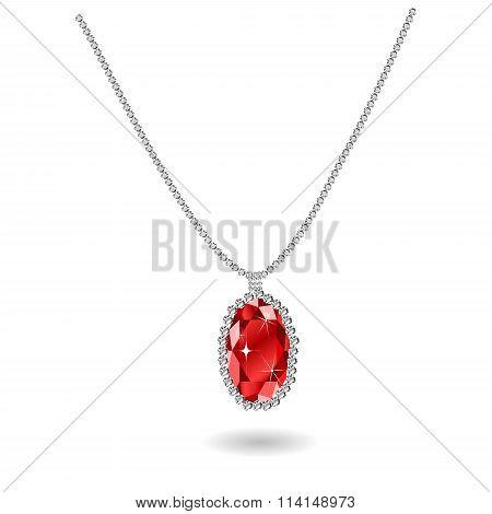 Beautiful gemstone red ruby