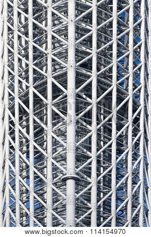 Close - up Steel construction of high buidling