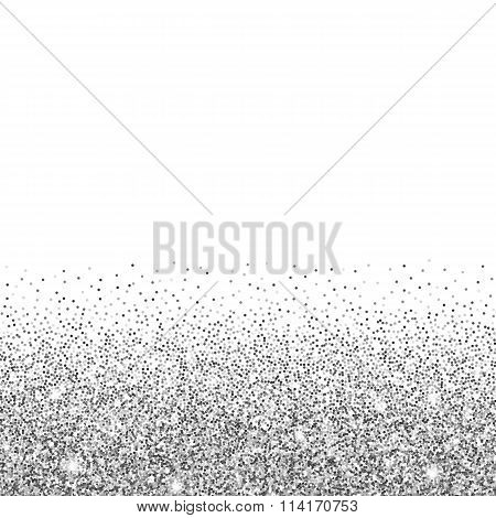 silver glitter background.
