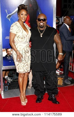 Viveca A. Fox and Cee-Lo Green at the Los Angeles premiere of