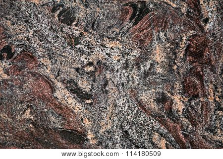 Dark marbled stone slab
